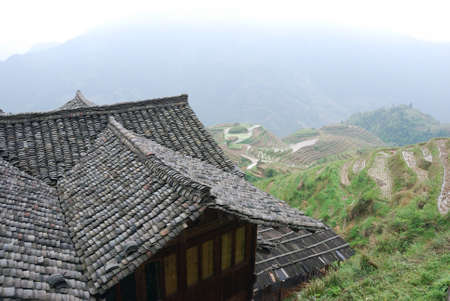 Rice terraces, Chinese Village, China Southern
