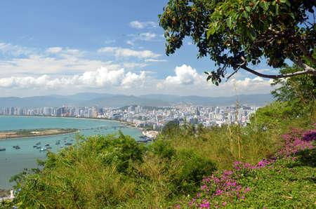 China Hainan island, city of Sanya aerial view Фото со стока - 104232709