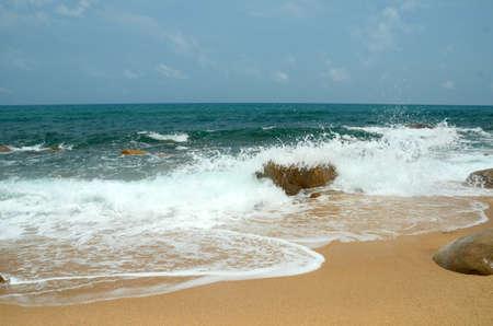 Rocks inside the sea in Hainan, China, may 2011 Фото со стока - 104902494