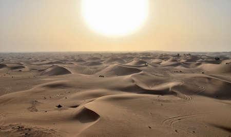 Sunset in the desert, Dubai, United Arab Emirates