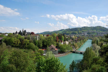 Townscape of Berne, Switzerland.