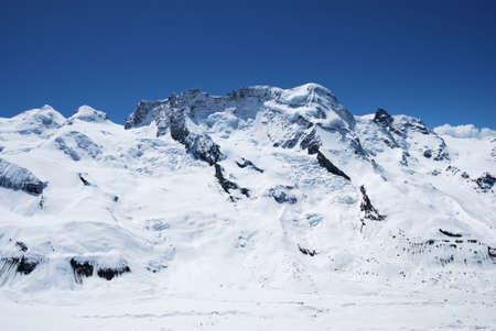 View of the surroundings Gornergratt, Switzerland.