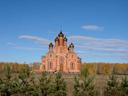 Chapel in Achair monastery, Omsk region, Siberia, Russia Фото со стока - 109593287