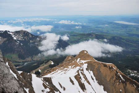 Switzerland Alps, view from top Pilatus . april 2012