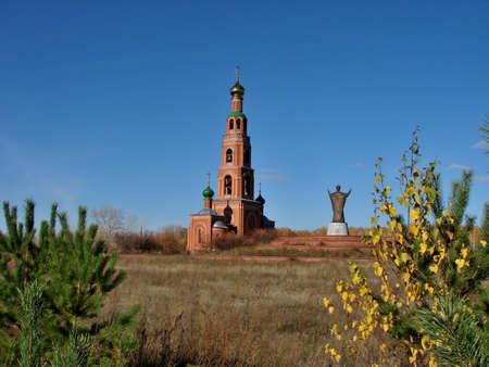 Chapel in Achair monastery, Omsk region, Siberia, Russia Фото со стока - 109711613