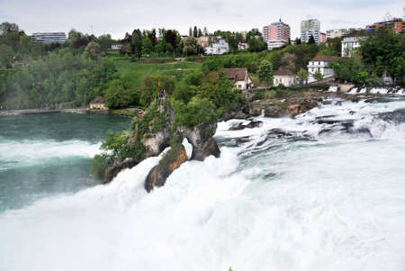The Rhine Falls is the largest waterfall in Europe 2012 Фото со стока - 109711667