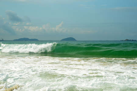 Surf on Yalong bay, Hainan Island, China, may 2011
