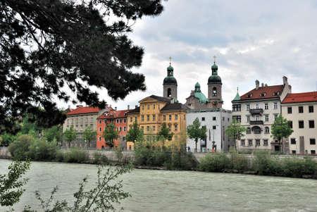 Veiw of river Salzach, Salzburg, Austria Фото со стока - 109593455