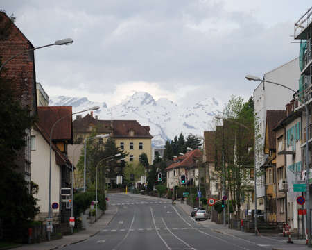 Townscape of Feldkirch, Vorarlberg, Austria.