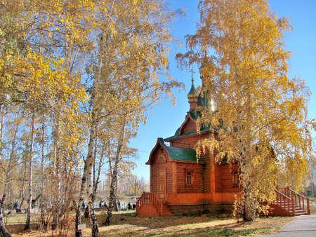 Chapel in Achair monastery, Omsk region, Siberia, Russia Фото со стока - 109432239