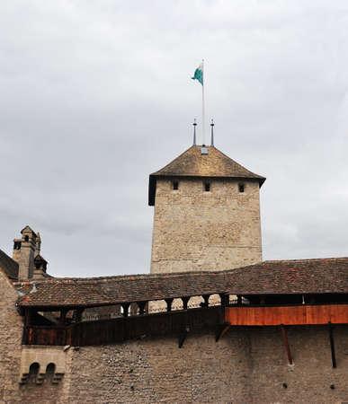 The Chillon castle in Montreux. Geneva lake, Switzerland,
