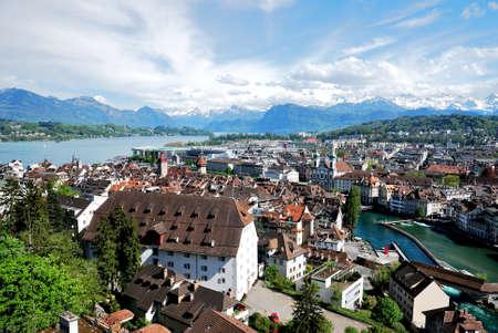 Luzern Panorama, Switzerland. Фото со стока - 109432241
