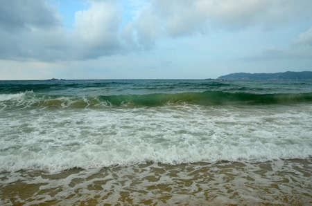 Surf on Hainan Island, China, Sanya, Yaluvan Bay