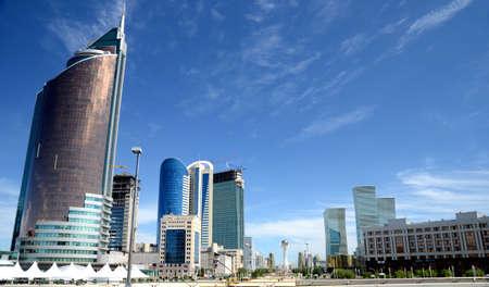 Water Green Boulevard in Astana. Kazakhstan Редакционное