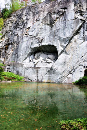 Famous lion monument in lucerne, Switzerland Фото со стока - 109432240
