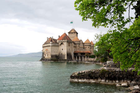 The Chillon castle in Montreux. Geneva lake, Switzerland, Фото со стока - 109528467