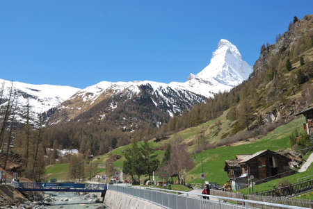 View of Zermatt valley, with the Matterhorn, Switzerland Фото со стока - 109528468