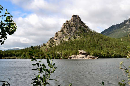 Okzhetpes rock and lake Borovoe, State National Natural Park