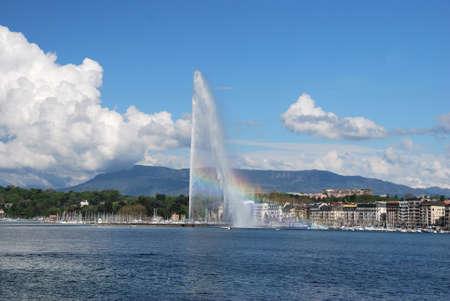 Geneva Panorama, Switzerland Фото со стока - 109432832
