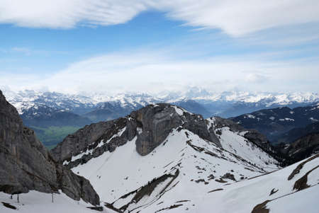 Switzerland Alps, view from top Pilatus Фото со стока - 109432835