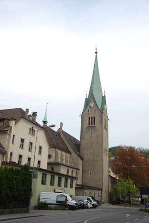 Townscape of Feldkirch, Vorarlberg, Austria. april 2012 Фото со стока - 109448078