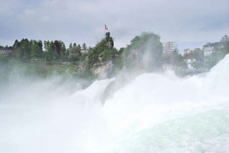The Rhine Falls is the largest waterfall in Europe Фото со стока - 109432849