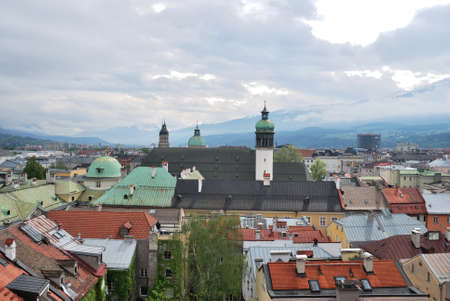 Townscape of Innsbruck, Austria. Фото со стока