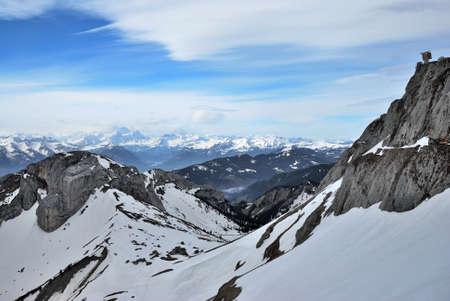 Switzerland Alps, view from top Pilatus Фото со стока - 109432855