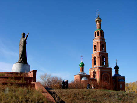 Chapel in Achair monastery, Omsk region, Siberia, Russia Фото со стока