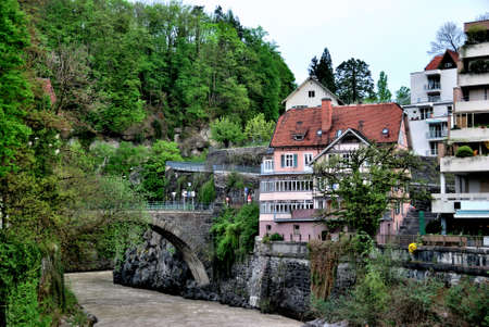 Townscape of Feldkirch, Vorarlberg, Austria. april 2012 Фото со стока - 109448084