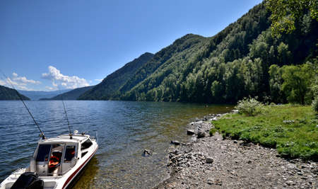 View of the lake Teletskoye. Russia, Altai Republic