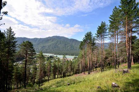 View of the village Uznezya, Altai Republic, Russia Reklamní fotografie