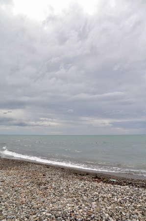 View of the beach in the Sochi, Russia Фото со стока