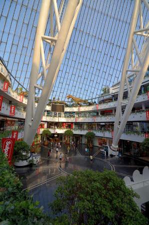 ASTANA, KAZAKHSTAN JULY, 2015: View of the Hall of Commerce entertainment center Khan Shatyr Astana Редакционное