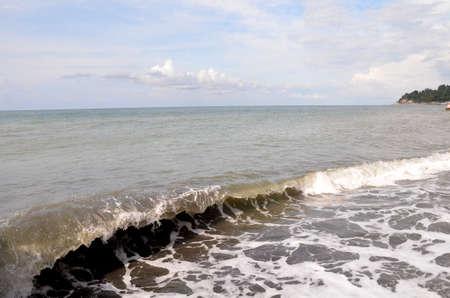 View of the beach in the Hosta Sochi, Russia