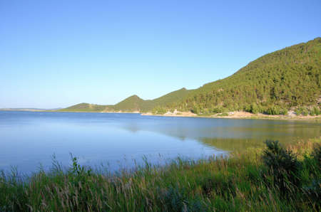 Lake Shore Chebache, State National Natural Park Burabai, Kazakhstan Фото со стока