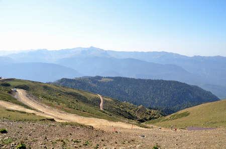 View of the mountain ranges of Abkhazia, Sochi, Russia