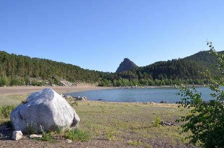 Lake Chebache, State National Natural Park Burabai, Kazakhstan Редакционное