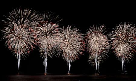 Fireworks at the port of Sochi, Russia Фото со стока