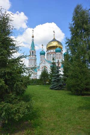Uspensky Cathedral. Omsk. Фото со стока