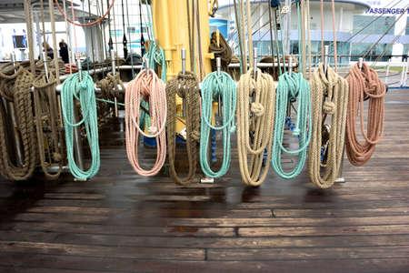 SOCHI, RUSSIA: On board a sailing boat participating in the Black Sea regatta