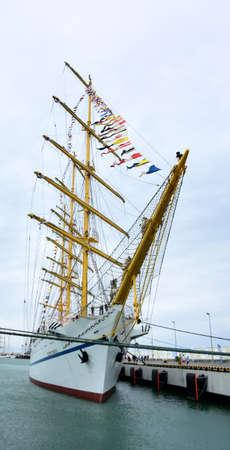SOCHI, RUSSIA SEPTEMBER 22, 2016: A view of the sailboats moored Black Sea Regatta