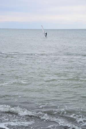 Windsurfing in Black Sea Sochi, Russia Фото со стока