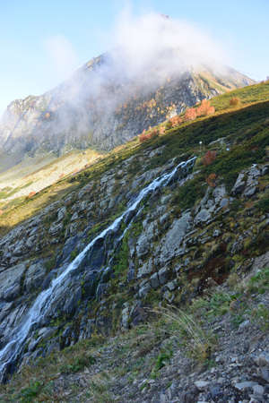 Bear Waterfall at 2000 meters above sea level, Sochi, Russia Banco de Imagens