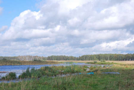 Morning on Lake Big Corner. Omsk region, Siberia, Russia Stock fotó