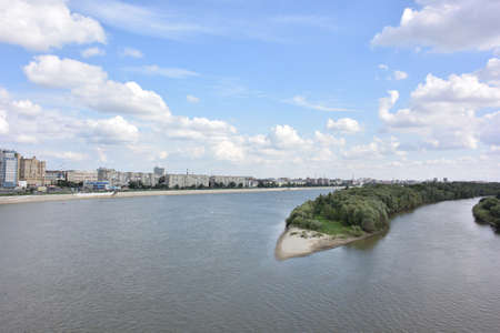 View of Irtysh River divides the city into two parts Omsk, Russia Reklamní fotografie