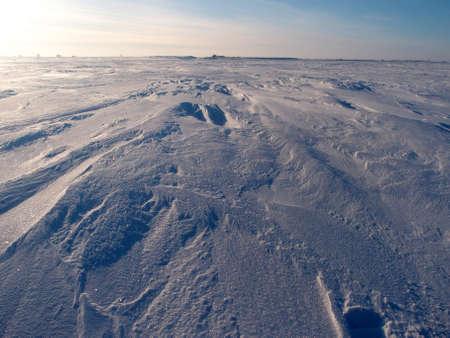 Recreation center on the Lake Chany, Novosibirsk region, Siberia, Russia