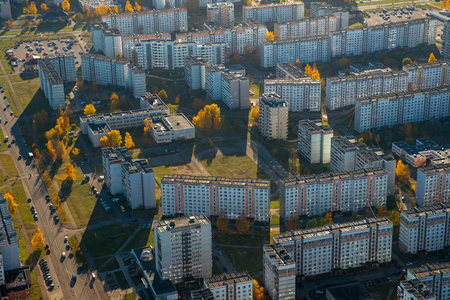 District of Riga, plavnieki. View from above. Aerial Landscape. Latvia.