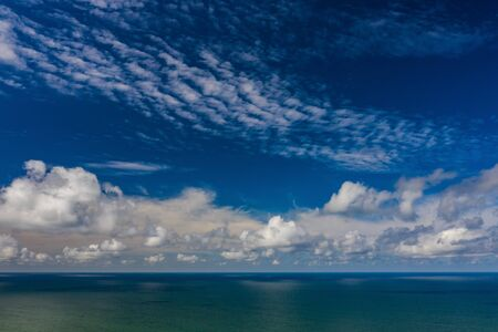 Beautiful view of the sea. Cloudy day. Blue sky. Banco de Imagens - 129015043