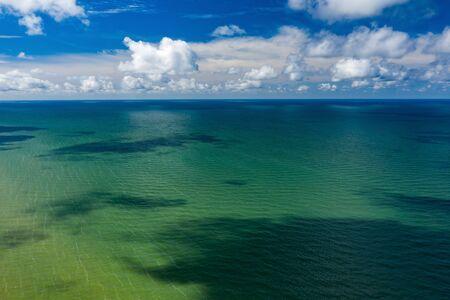 Beautiful view of the sea. Cloudy day. Blue sky. Banco de Imagens - 129015095